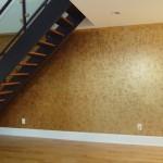 Abstract metallic wall finish