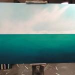 Acrylic painting sky & sea 36 x 48