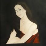 Acrylic portrait painting 30 x 40