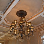 Custom metallic plaster in ceiling