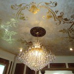 Gold Leaf Ceiling Design