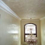 Metallic plaster in ceiling & venetian plaster walls
