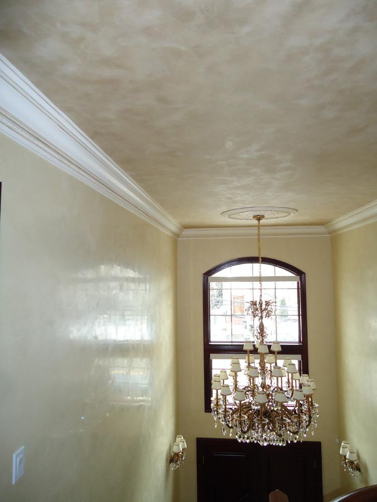 Foyer Plaster Ceiling : Metallic plaster in ceiling venetian walls