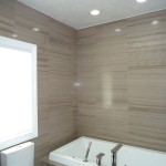 Pearlescent leather finish in ceiling