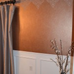 Soft decorative wall finish & texture border