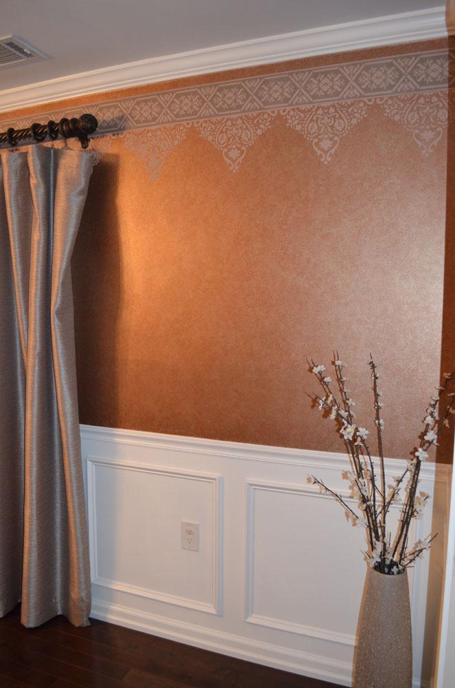 Unique Wall Finishes : Soft decorative wall finish texture border jelber s