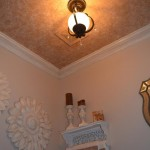 Soft texture finish in ceiling