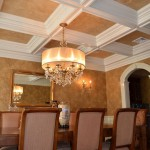 Two tone lusterstone ceiling