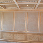Two tone metallic plaster in panels